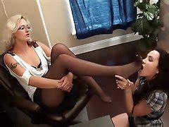Inked blonde secretary worships her dominant lesbian boss jpg 240x180
