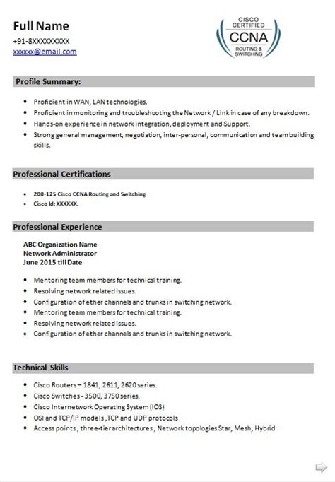 Ccna resume sample technical resumes livecareer jpg 488x703